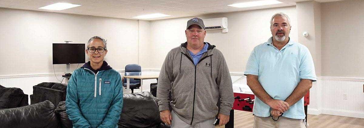 From left: Tenn Center Coordinator Merideth McClurg, Fryeburg Rec Director Rick Buzzell and Pequawket Valley Health Initiatives director Chris Whitaker
