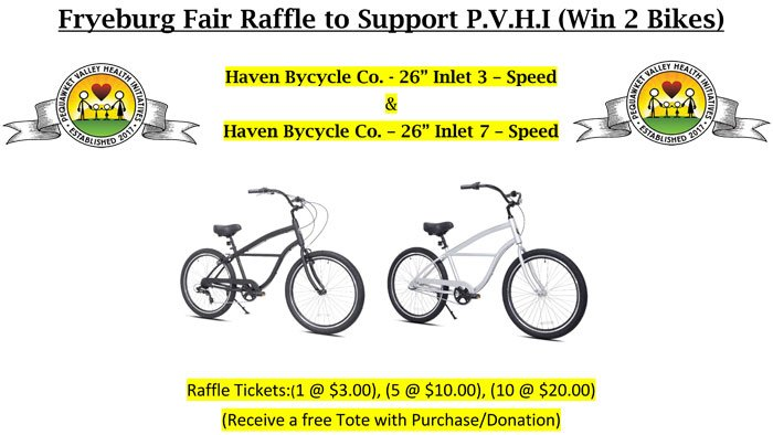 Fryeburg Fair Raffle to Support P.V.H.I (Win 2 Bikes)